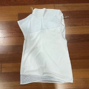Cynthia Rowley Tops - Cynthia Rowley cream/off white mesh silk top SMall